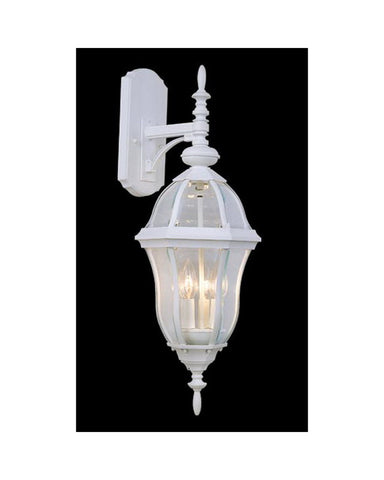 Vaxcel Lighting OW24493 TW Three Light Outdoor Wall Lantern in Textured White Finish - Quality Discount Lighting