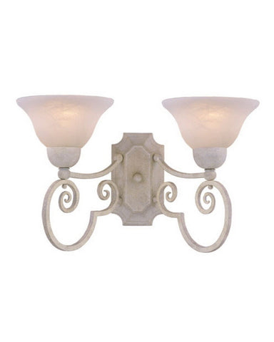 Vaxcel Lighting WL10934 SW Two Light Wall Sconce in Sand White Finish - Quality Discount Lighting