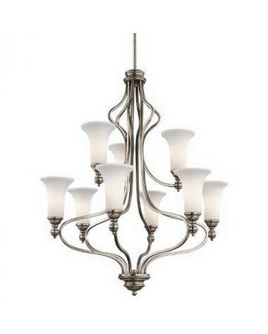 Kichler Lighting 42624 AP Nine Light Chandelier in Antique Pewter Finish - Quality Discount Lighting