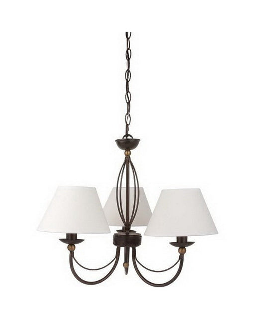 Globe Lighting 61964 Three Light Chandelier in Bronze Finish