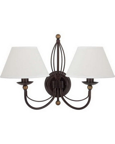 Globe Lighting 61962Two Light Wall Sconce in Bronze Finish