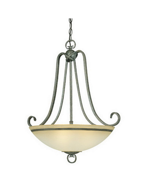 Thomas Lighting M2629-26 Avila Collection Three Light Bowl Pendant Chandelier in Natural Slate Finish