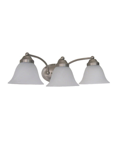 Rainbow Lighting 92688 SN Three Light Bath Wall Fixture in Satin Nickel Finish - Quality Discount Lighting
