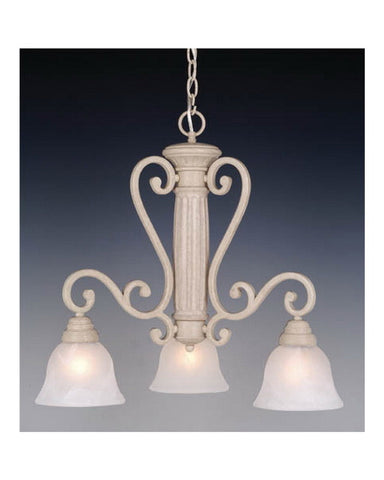 Vaxcel Lighting CH32803 NS Three Light Chandelier in Stone Finish - Quality Discount Lighting