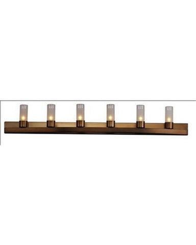 Forecast Lighting F4576-68 Six Light Vanity Bath Wall Fixture in Deep Bronze Finish - Quality Discount Lighting