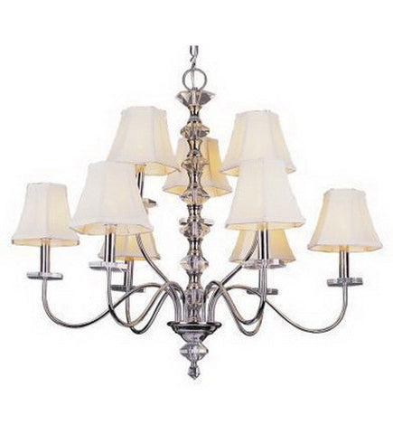 Trans Globe Lighting 9389 PC Nine Light Chandelier in Polished Chrome Finish - Quality Discount Lighting