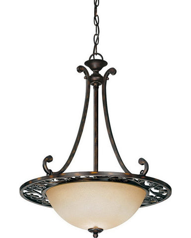 Nuvo Lighting 60-1567 Pickford Collection Three One Light Pendant Chandelier in Distressed Bronze Finish - Quality Discount Lighting