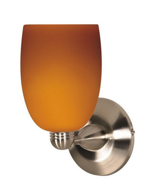 Nuvo Lighting 60-690 One Light Wall Sconce in Brushed Nickel Finish and Butterscotch Glass - Quality Discount Lighting