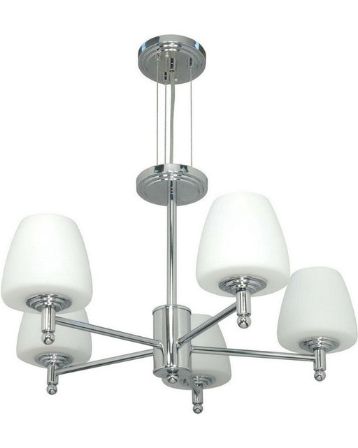 Nuvo Lighting 60-1077 Galileo Collection Five Light Chandelier in Polished Chrome Finish - Quality Discount Lighting