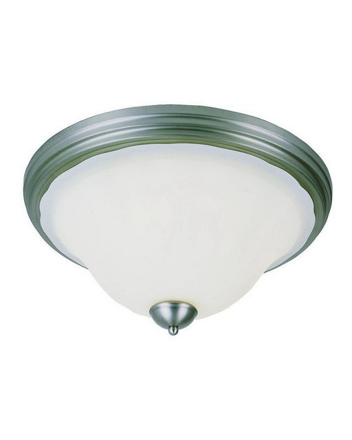 Trans Globe Lighting 29118 BN Three Light Flush Ceiling Fixture in Brushed Nickel Finish - Quality Discount Lighting