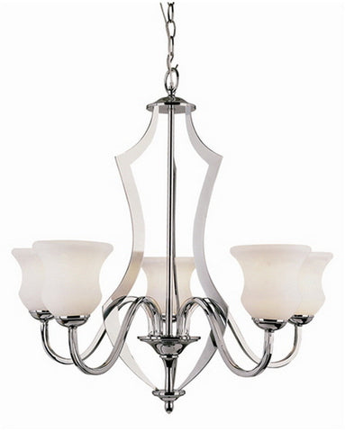 Trans Globe Lighting 3985 PC Five Light Chandelier in Polished Chrome Finish