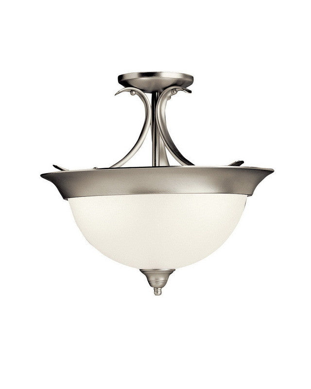 Kichler Lighting 10823 NIA Dover Collection One Light Energy Efficient  Circline Fluorescent Ceiling Semi Flush In Idea