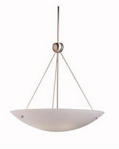 Kichler Lighting 2754 NIFL Family Spaces Collection One Light Energy Efficient Circline Fluorescent Pendant Chandelier in Brushed Nickel Finish - Quality Discount Lighting
