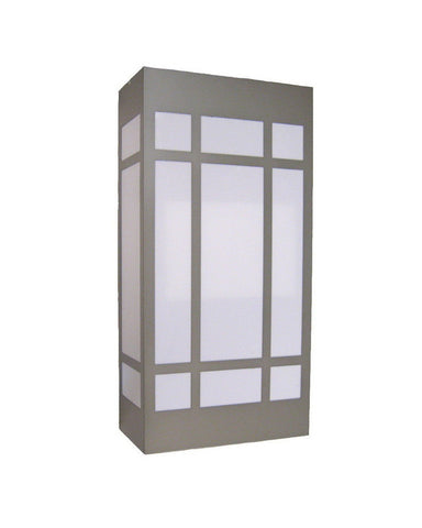 "Epiphany Lighting 103530 BN - EB138-26 Two Light 24"" Energy Efficient Fluorescent Indoor Outdoor Wall Mount in Brushed Nickel Finish"