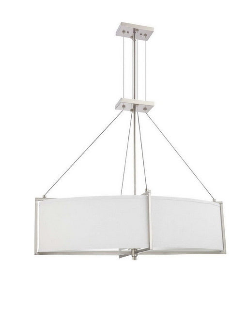 Nuvo Lighting 60-4346 Portia Collection Oval Six Light Energy Star Efficient Fluorescent GU24 Chandelier in Brushed Nickel Finish - Quality Discount Lighting
