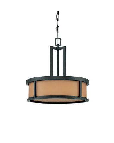 Nuvo Lighting 60-3827 Odeon Collection Four Light Energy Star Efficient Fluorescent GU24 Pendant Chandelier in Aged Bronze Finish - Quality Discount Lighting