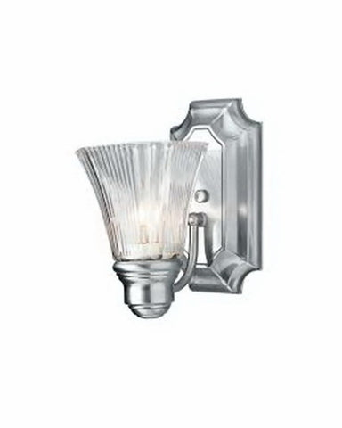 Trans Globe Lighting PL2501 BN One Light Energy Efficient Fluorescent Wall Sconce in Brushed Nickel Finish - Quality Discount Lighting