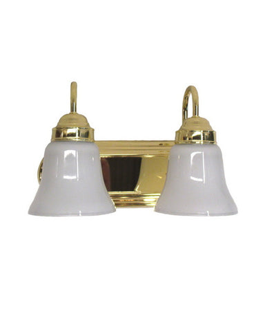 Epiphany Lighting 106044 PB-2537 Two Light Bath Wall Fixture in Polished Brass Finish - Quality Discount Lighting