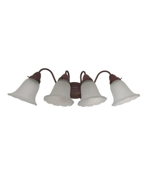 Thomas Lighting SL7214-81-SUP4113 Four Light Bath Vanity Wall Fixture in Tile Bronze Finish