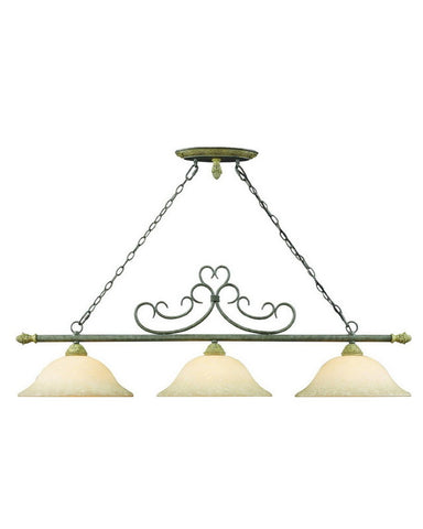 Z-Lite Lighting 601-3 Three Light Hanging Island Chandelier in Granite Finish - Quality Discount Lighting