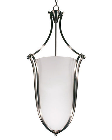 Z-Lite Lighting 316P-43 Six Light Hanging Pendant Chandelier in Brushed Nicklel Finish - Quality Discount Lighting