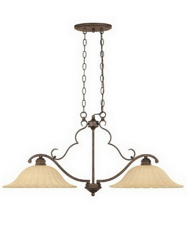 Designers Fountain Lighting 82638 FSN Two Light Island Chandelier in Forged Sienna Finish - Quality Discount Lighting