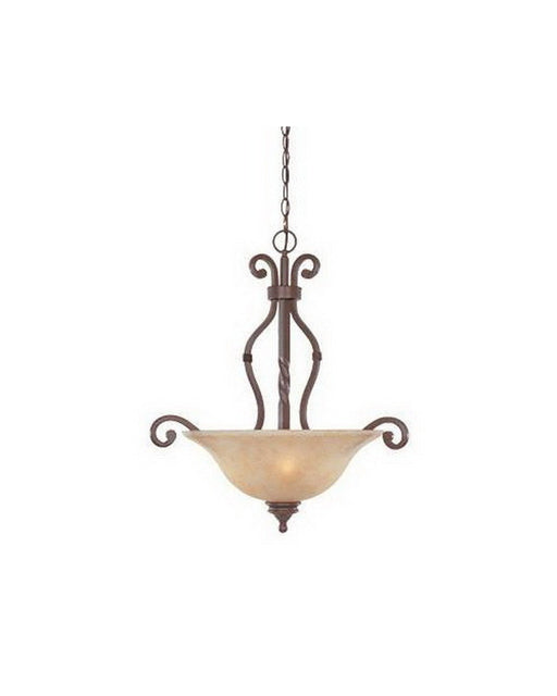 Designers Fountain Lighting 97731 WP Del Mar Collecton Three Light Bowl Pendant Chandelier in Warm Pecan Finish - Quality Discount Lighting