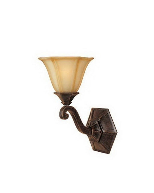 Designers Fountain Lighting 81101 IW One Light Wall Sconce in Imperial Walnut Finish - Quality Discount Lighting