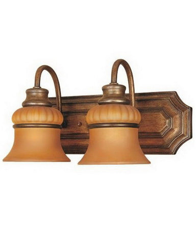 Designers Fountain Lighting 81302 BB Two Light Bath Vanity Wall Mount in Bavarian Bronze Finish - Quality Discount Lighting