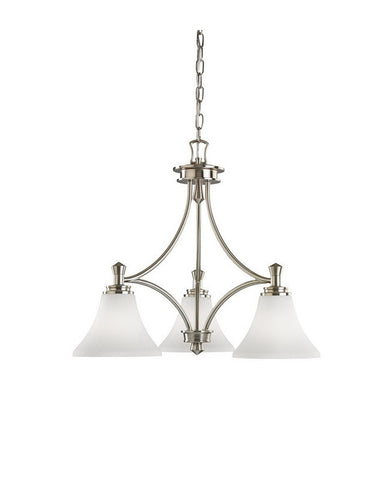 Kichler Lighting 34575 Three Light Hanging Chandelier in Brushed Nickel Finish - Quality Discount Lighting