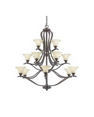 Quoizel Lighting 5951 VO Fifteen Light Hanging Chandelier in Vintage Bordeaux Finish - Quality Discount Lighting