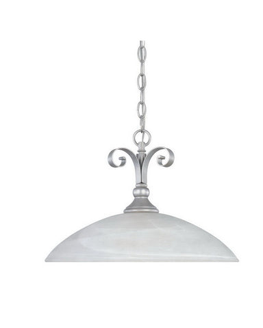 Designers Fountain Lighting 82832 MTP Del Amo Collection One Light Hanging Pendant Chandelier in Matte Pewter Finish - Quality Discount Lighting