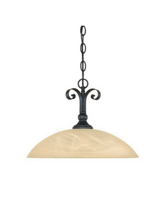Designers Fountain Lighting 82832 BNB Del Amo Collection One Light Hanging Pendant Chandelier in Burnished Bronze Finish - Quality Discount Lighting