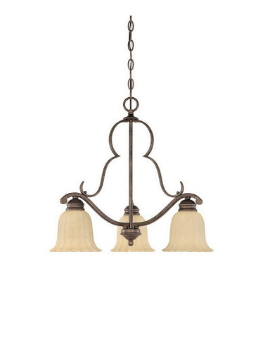 Designers Fountain Lighting 82683 FSN Radford Collection Three Light Hanging Chandelier in Forged Sienna Finish - Quality Discount Lighting