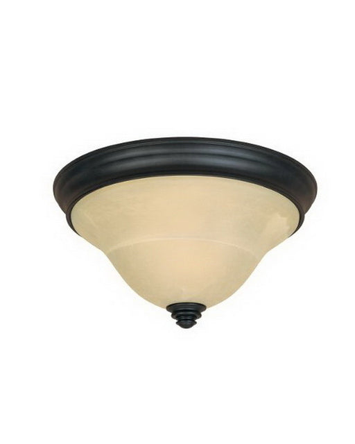 Designers Fountain Lighting 81721 BNB Montague Collection Two Light Flush Ceiling Mount in Burnished Bronze Finish - Quality Discount Lighting
