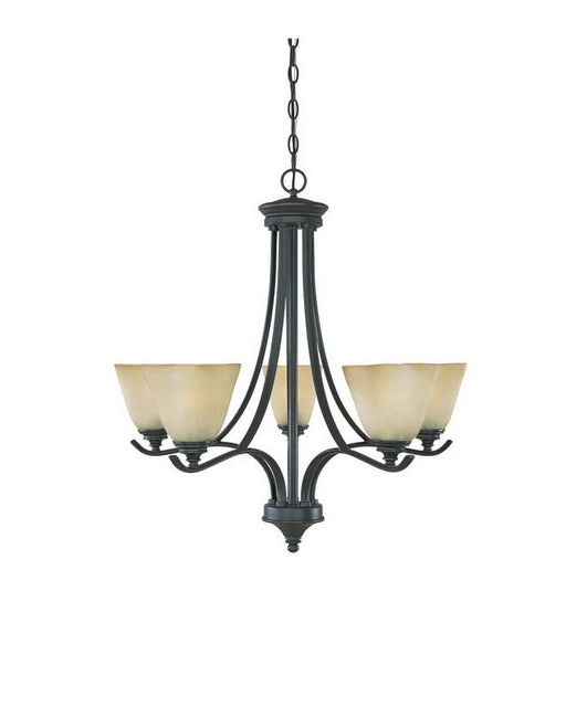 Designers Fountain Lighting 81985 BNB Bella Vista Collection Five Light Hanging Chandelier in Burnished Bronze Finish - Quality Discount Lighting
