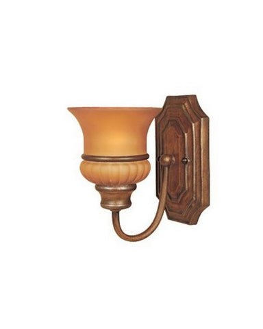 Designers Fountain Lighting 81301 BB Lucia Collection One Light Wall Sconce in Bavarian Bronze Finish - Quality Discount Lighting