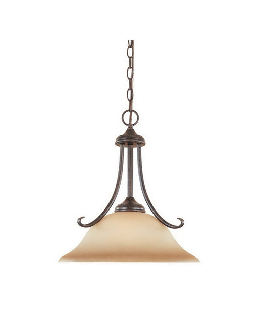 Designers Fountain Lighting 98032 WM Stratton Collection One Light Hanging Pendant Chandelier in Warm Mahogany Finish - Quality Discount Lighting