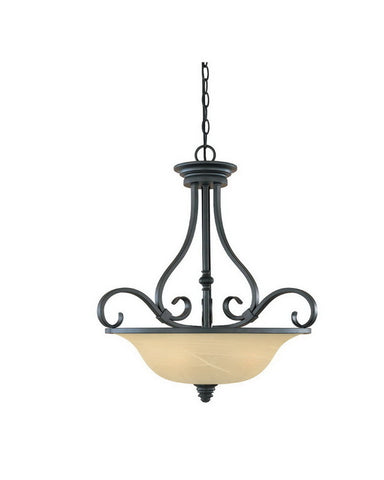 Designers Fountain Lighting 81731 BNB Montague Collection Three Light Hanging Pendant Chandelier in Burnished Bronze Finish - Quality Discount Lighting