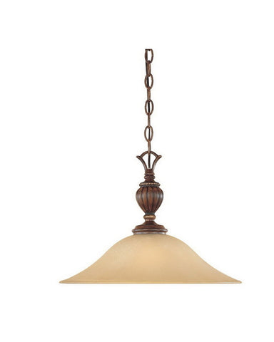 Designers Fountain Lighting 81532 BWG Montreaux Collection One Light Hanging Pendant Chandelier in Burnt Walnut with Gold Accents Finish - Quality Discount Lighting