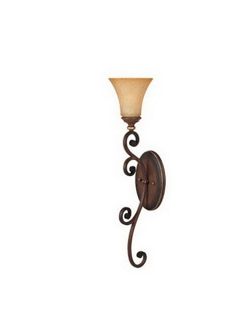 Designers Fountain Lighting 81507 BWG Montreaux Collection One Light Wall Sconce in Burnt Walnut with Gold Accents Finish - Quality Discount Lighting