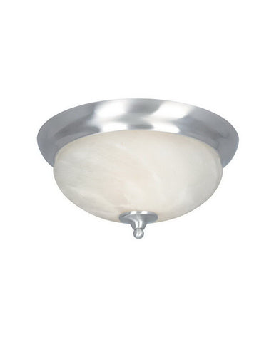 Designers Fountain Lighting 82021 SP Moon Shadow Collection Two Light Flush Ceiling Fixture in Satin Platinum Finish - Quality Discount Lighting
