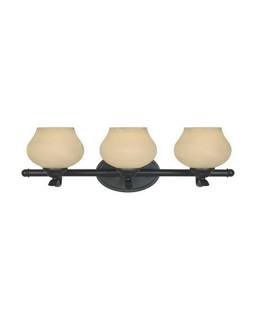 Designers Fountain Lighting 82003 BNB Moon Shadow Collection Three Light Bath Vanity Wall Mount in Burnished Bronze Finish - Quality Discount Lighting