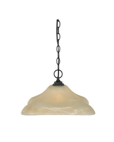 Designers Fountain Lighting 81932 BNB Bella Vista Collection One Light Hanging Pendant in Burnished Bronze Finish - Quality Discount Lighting