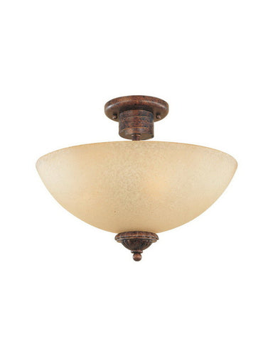 Designers Fountain Lighting 99311 AUB Belaire Collection Three Light Semi Flush Ceiling Mount in Aged Umber Bronze Finish - Quality Discount Lighting