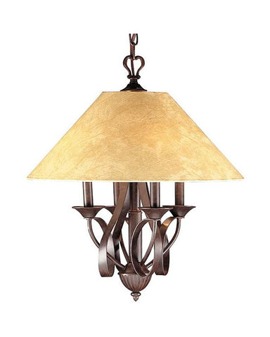 Kichler Lighting 44008 Four Light Hanging Chandelier in Oil Rubbed Bronze Finish - Quality Discount Lighting