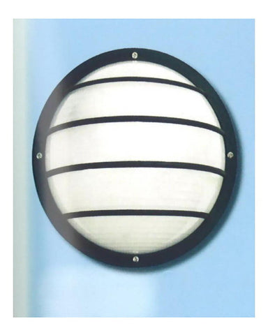 Epiphany Lighting 104852 BK One Light Polycarbonate Exterior Wall Sconce in Black Finish