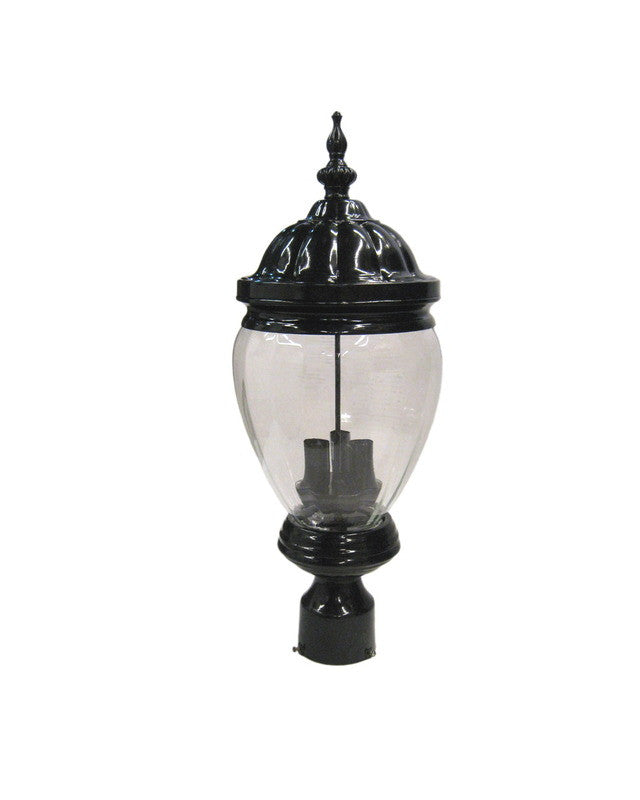 Epiphany Lighting 104894 Bk One Light Outdoor Exterior: Epiphany Lighting 104976 BK Three Light Cast Aluminum