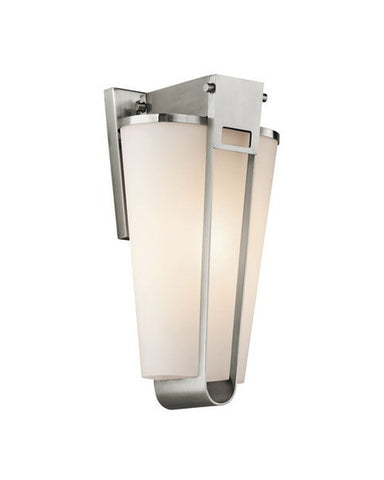 Kichler Lighting 49351 SS Coturri Collection One Light Exterior Outdoor Wall Mount in Stainless Steel - Quality Discount Lighting