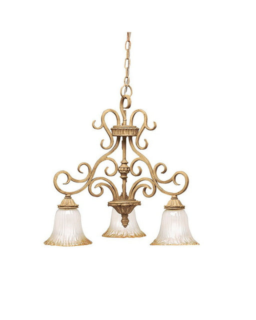 Kichler Lighting 2982 GBR Edenvale Collection Three Light Chandelier in Brulee Finish - Quality Discount Lighting